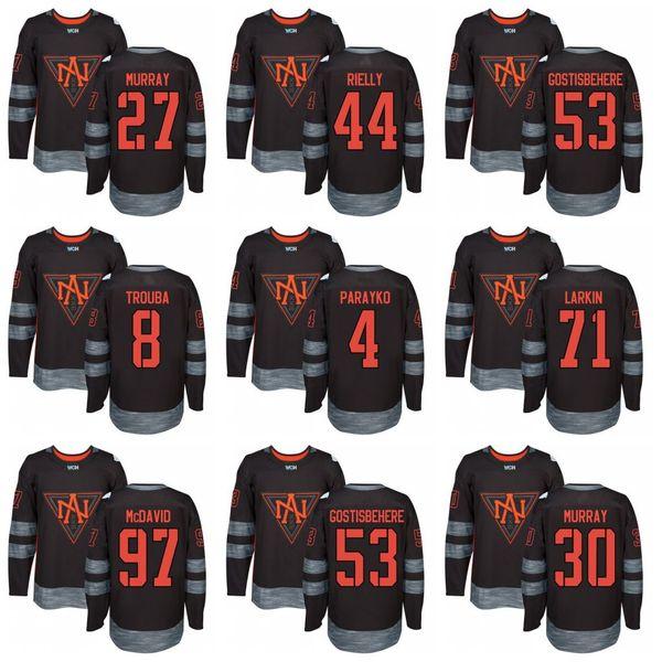 Дешевые 2016 Команда Северная Америка Хоккей Джерси 27 Райан Ньюджент-Хопкинс 44 Морган Риелли 53 Шейн Гостисбехер 8 Джейкоб Труба 4 Колтон Парайко