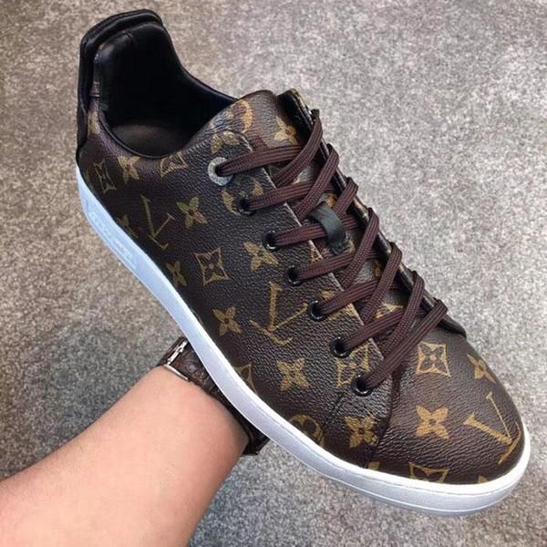 le scarpe da tennis degli uomini di lusso di stampa scarpe casual moda Genuine Leather Lace-Up di pallacanestro scarpe di alta qualità size38-45 in esecuzione