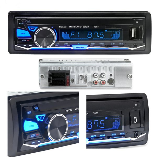 12V Bluetooth Car Radio Player Stereo FM MP3 Audio 5V-Charger USB SD MMC AUX Auto Electronics In-Dash Autoradio 1 DIN NO CD