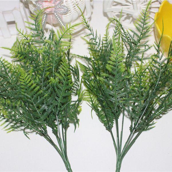 Plastic Green Plants 7 Stems Artificial Asparagus Fern Grass Bushes Flower Home Office Deor Decorative Plant
