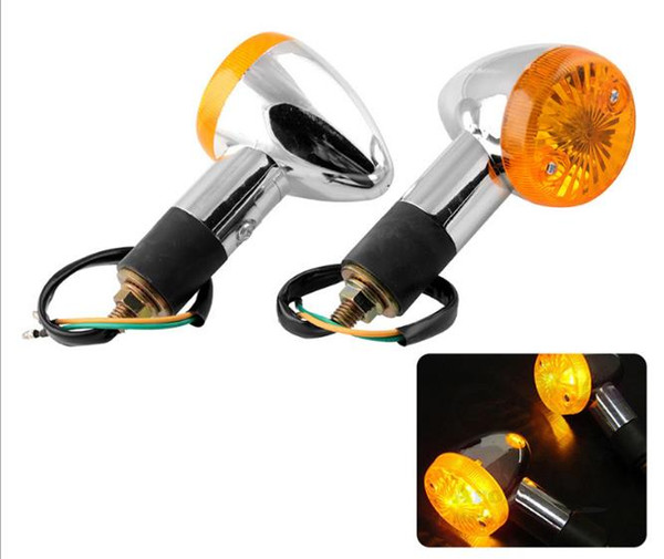 top popular 2 PCS Motorcycle Tail Lamp Amber Turn Signal Lights For Honda Shadow Rebal CB VT VTX GL 1300 1800 Cruiser 2021