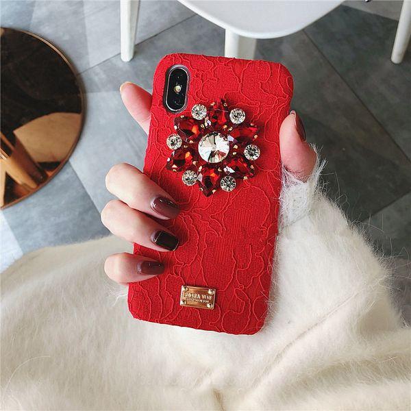 Mytoto Fashion creativity lace Rhinestone XS MAX XR 6s phone case For iPhone 7plus 8 X shell tide female models