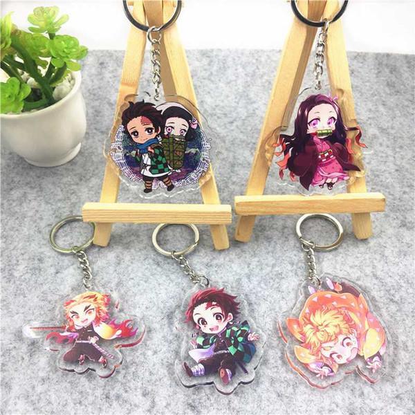 Anime Demon Slayer Kimetsu No Yaiba Kamado Tanjirou Keychain wallet Key ring N