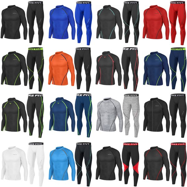 Take Five Mens Skin Tight Compression Base Layer Running Shirt White 004 CA