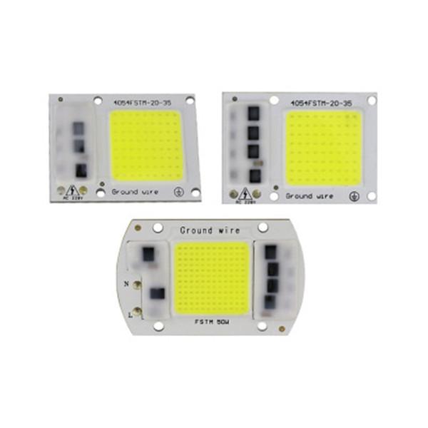 LED COB CHIP tam spektrum beyaz sıcak beyaz AC220V / 110V bitki ışık 20W 30W 50W LED projektör lambası modülü 380-840nm CRESTECH büyümek