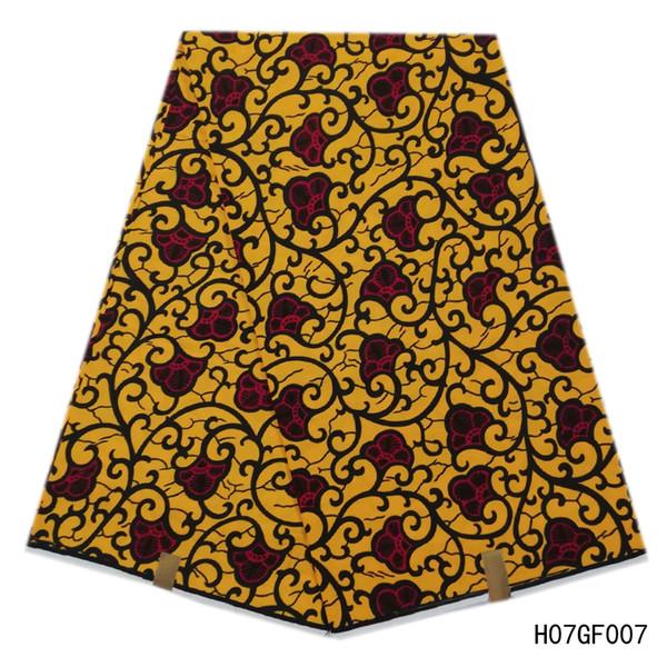 100% algodão de Alta Qualidade Cera Holandês Africano Verdadeiro Real Africano Garantido Cera holandês Verdadeiro Cera 6 Metros / lote Para As Mulheres Ankara Vestido