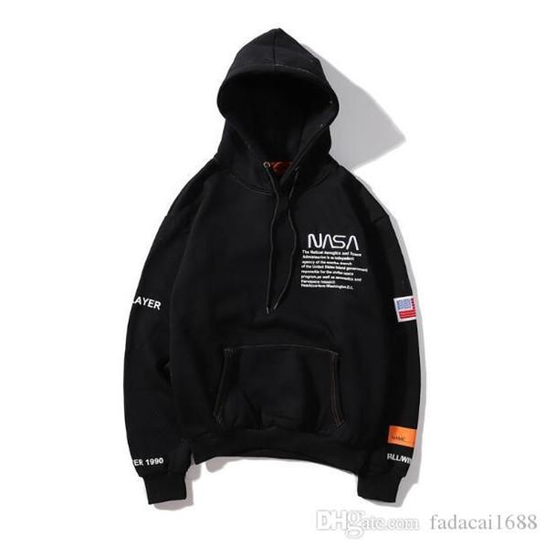 Livraison gratuite de haute qualité HERON PRESTON x femmes NASA / Impression des hommes hoodies Hip Hop HERON PRESTON x NASA Sweat à capuche Casual