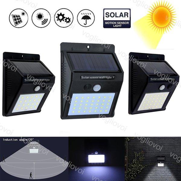 Solar-LED-Außenbeleuchtung 20 30 35LED Solar Power Panels PIR Bewegungs-Sensor-Wasserdichte LED-Garten-Licht-Wand-Licht-heißen Verkauf-EUB