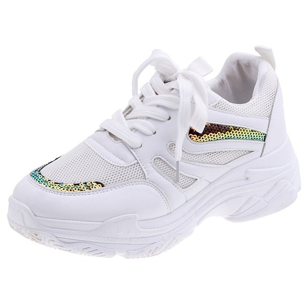 Bling Running Shoe for Women Outdoor Cool Mix Platforms Sneakers Ladies Summer Footwear JU8