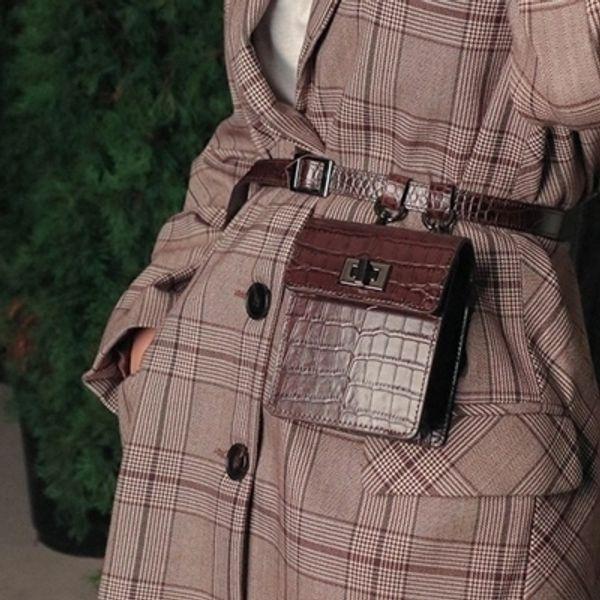 New Pu Leather Women Shoulder Bags Cross Body Bag Fashion Mini Ladies Handbags Solid Handbag Pockets Belt Decoration Pockets