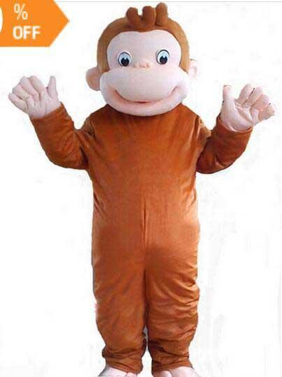 Brand New high quality Curious George monkey Adult mascot costume fancy party dress Halloween costume summer hot sale