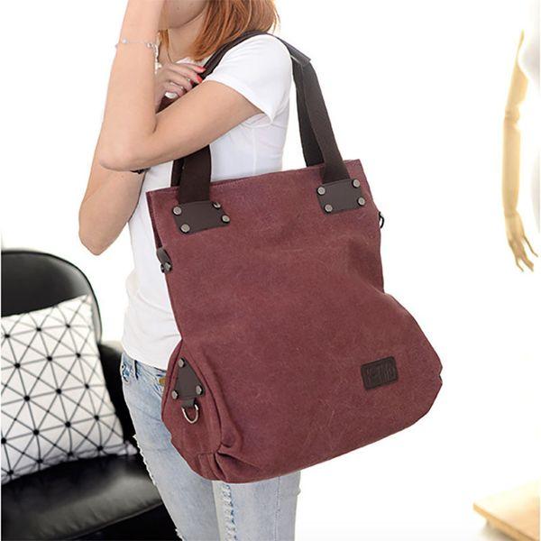 Kvky Large Capacity Women's Canvas Handbag Casual Canvas Shoulder Bags Vintage Messenger Bags Female Tote Bags Trapeze