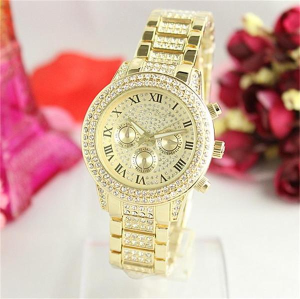 Новые роскошные женские часы Кварцевые часы Модные женские часы Наручные часы высокое качество Оптовая и розничная торговля Бесплатная доставка GO