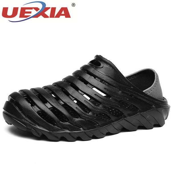 wholesale New Water Anti-slip Shoes Sandalias Hombre Jelly Summer Men Hollow Sandals Garden Casual Sport Breathable Beach Hole Shoes