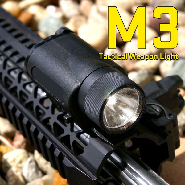 New Arrival M3 Tactical LED Flashlight Helmet Torch with 21.2mm Rail For Hunting Shooting Free Shipping CL15-0018