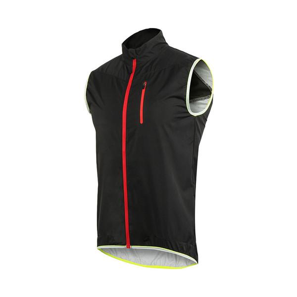 Arsuxeo 17v2 Windproof Waterproof Cycling Sleeveless Vest Jacket Mtb Bike Reflective Safety Clothing Outdoor Sportwear Wind Coat SH190702