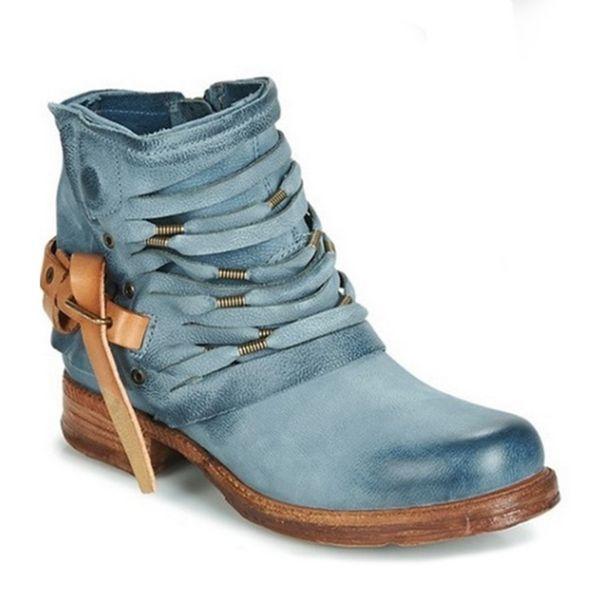 Estilo de la correa Shujin2019 mujeres botas de moda punta estrecha sólido de los altos talones de las nuevas mujeres otoño invierno las botas del tobillo Zapatos Femeninos