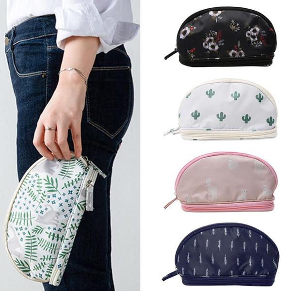 2019 neue bewegliche Cosmetic Bag Double-Layer-Reisen MakeUp-Beutel-Taschen Circular Up Bag Pinsel Organizer Machen Sie für die Frau