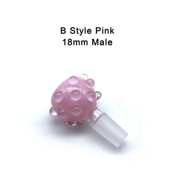 B- 14mm Male Pink