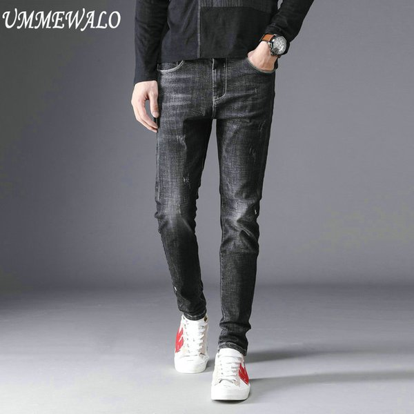 UMMEWALO Skinny Jeans Men Stretch Slim Fit Casual Jeans For Man Autumn Winter Male Design Quality Black Denim Pants Cotton