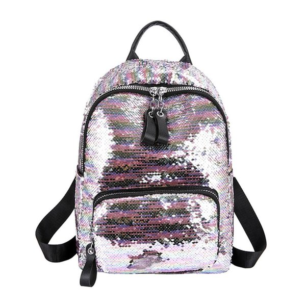 2019 Shining Sequins Backpack Women Backpack School For Girl Travel Large Capacity Bags Party Bags Glitter Backpack Mochila