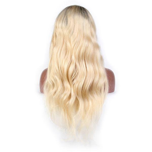 Remy Brazillian Объемная Волна Парик Фронта Шнурка 1B 613 Ombre Блондинка Цвета Предварительно запутанный Парик Шнурка Человеческих Волос Глубокая Часть
