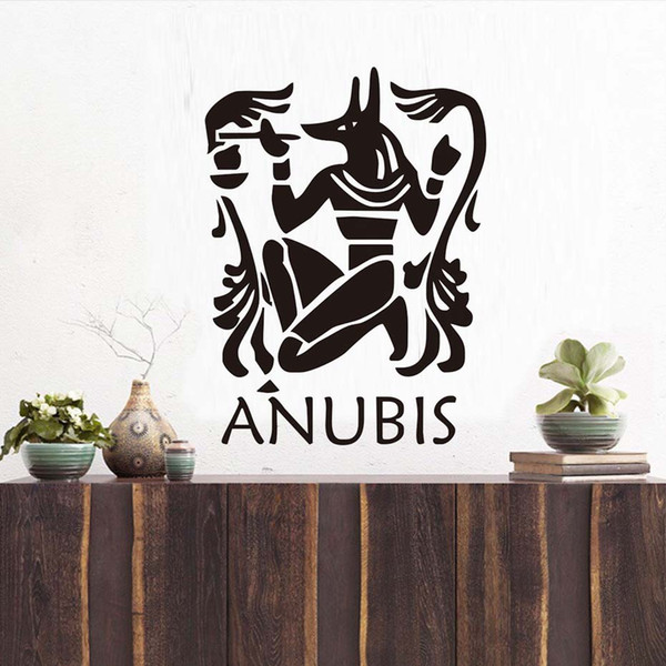 1 Pcs Anubis Wall Sticker Home Decor DIY The Egyptian Jackal Wallpaper Protector Mural Art Wall Sticker Living Room Home Decoration