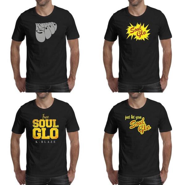 Soul glo logo negro camisas para hombre diseño de camisa cool t diseñador personalizado cara atlética Soul-Retro-Glo America Rubber-Funny-Soul Poor