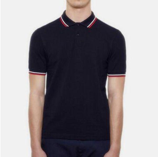 Free shipping Summer British fashion Classic Grain embroidery men's lapel short sleeve Polo shirt England Gold tassel embroidery polo Shirt