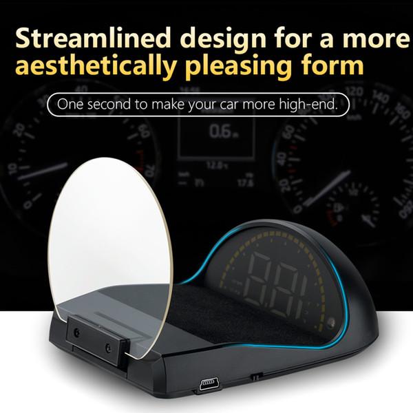 head-up display OBD OBD2 coches HUD C700 exceso de velocidad de advertencia de alarma con la proyección del OBD II Espejo interfaz digital GPS