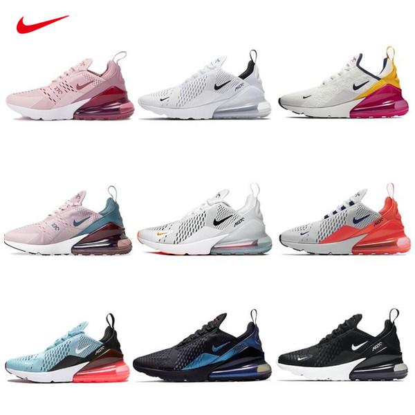top popular 270 Vapors Running Men Shoes Olive Bruce Lee Rainbow TN 27C Triple Airs University Splashing ink Maxes 270s Woman Sneakers Size 36-45 2020