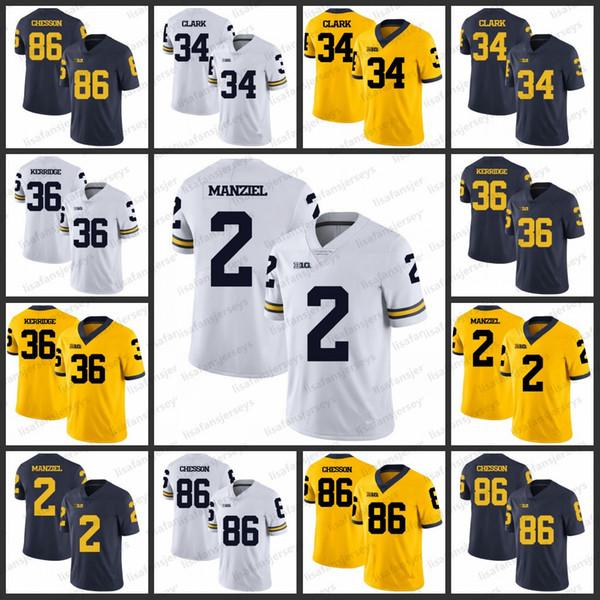 purchase cheap 2e459 fa6ca Compre Camisetas Del Michigan Wolverines College 86 Jehu Chesson 34 Jeremy  Clark 34 Joe Kerridge 2 Johnny Manziel Todos Cosidos Jersey De Fútbol A ...