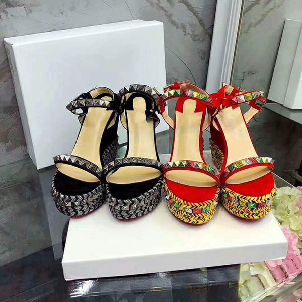 Tiras Compre Sandalias Zapatos 2018 Mujer Diseñador Alta Qaulity Para Real Tobillo Nuevos De Gladiador Remaches Cuero ZikuOTXwP