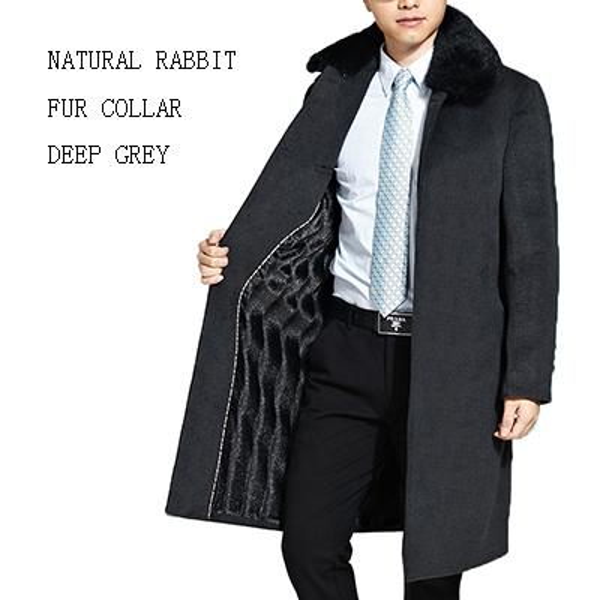 Deep Grey Real Fur