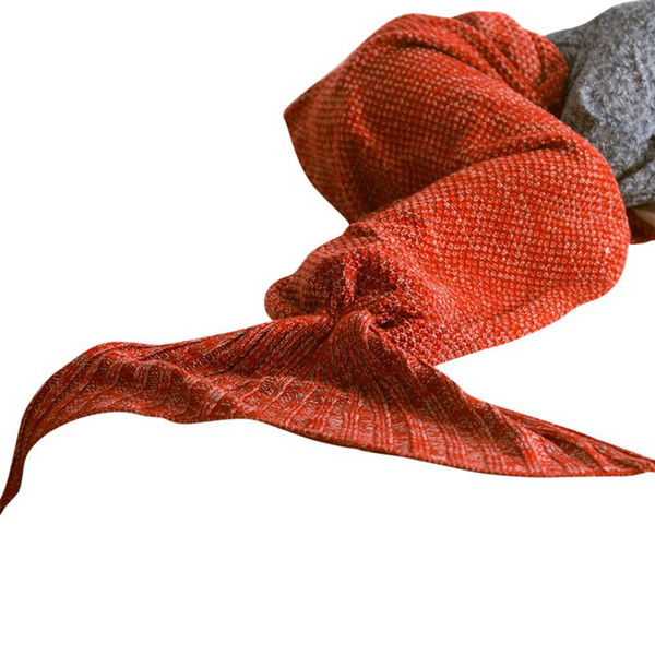 2017 Warm Handmade Yarn Knitted Mermaid Blanket Crochet Soft For Home Sofa Sleeping Bag Adults Christmas Gifts