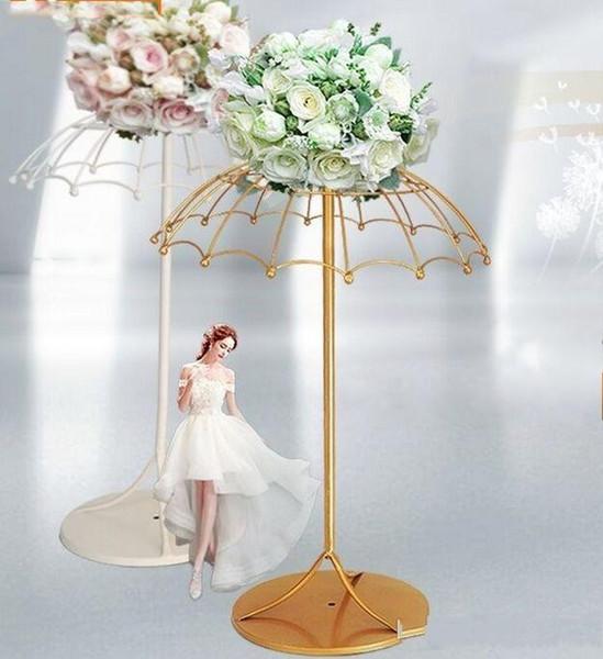 Flone Wedding Road Lead Iron Art Wedding Scene Layout Decor Flower arrangement stand Wedding table Decoration Accessories