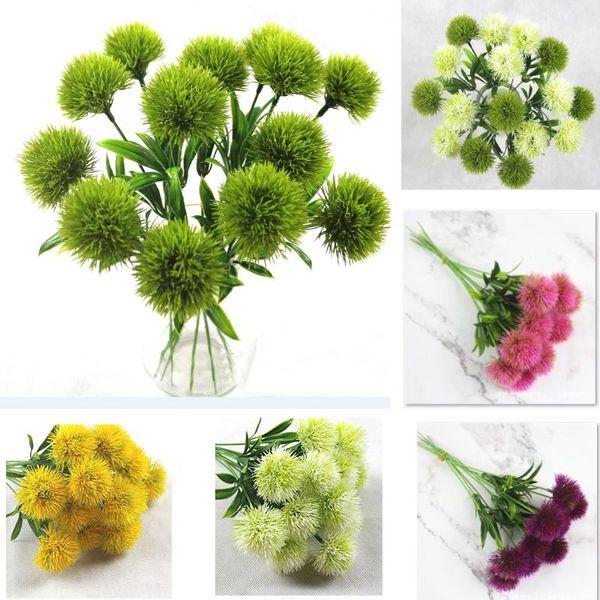 Artificial Flowers For Single Stem Simulation Dandelion Plastic Flower Wreaths Wedding Decorations Home Garden Table Centerpieces WX9-1352