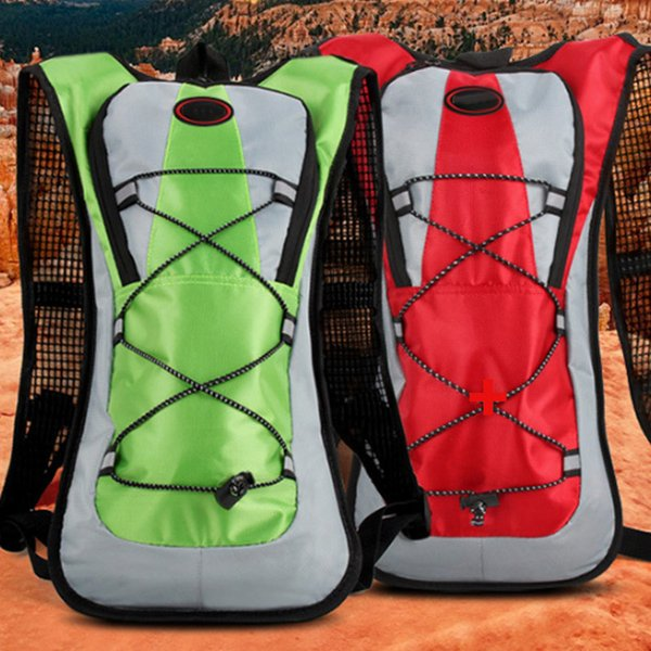 Men Women Travel Backpack With 2l Water Bag For Hiking Cycling Camping Climbing Outdoor Mountaineering Bag good quality