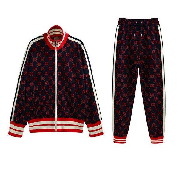 Italia Designerss chaqueta de algodón jacquard jersey Impreso para hombre sudaderas con cremallera capa de la chaqueta con capucha Hombres Mujeres Pantalón hombre Pantalón SMK091