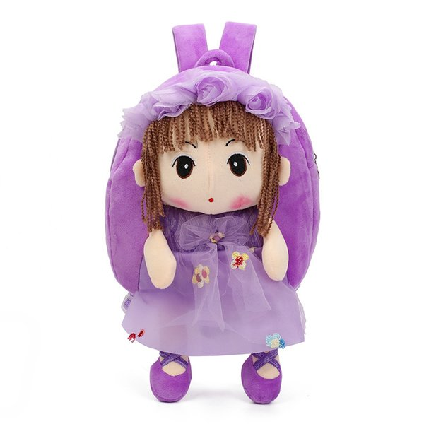 Keppel doll stuffed cartoon bag kindergarten children's small schoolbag female baby snacks backpack 1-2-3 years old