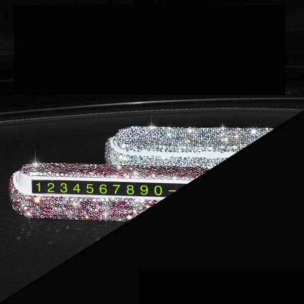 Universal Car Luminous Temporäre Parkkarte Telefonnummer Karte für Auto Stop Parking Sign Hinweis Nummer für Auto Produkte