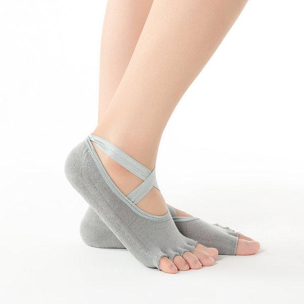 open toe grey