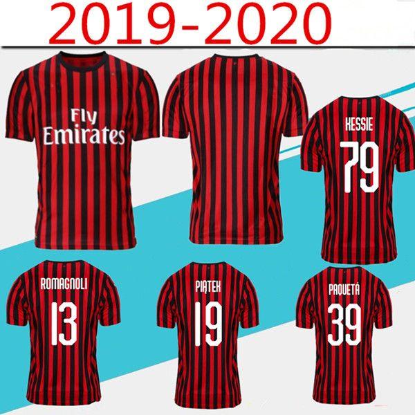 Les derniers maillots de foot de la Thaïlande 2019-2020 en Milan AC PIATEK PAQUETA 19/20 maglietta da calcio rouge noire