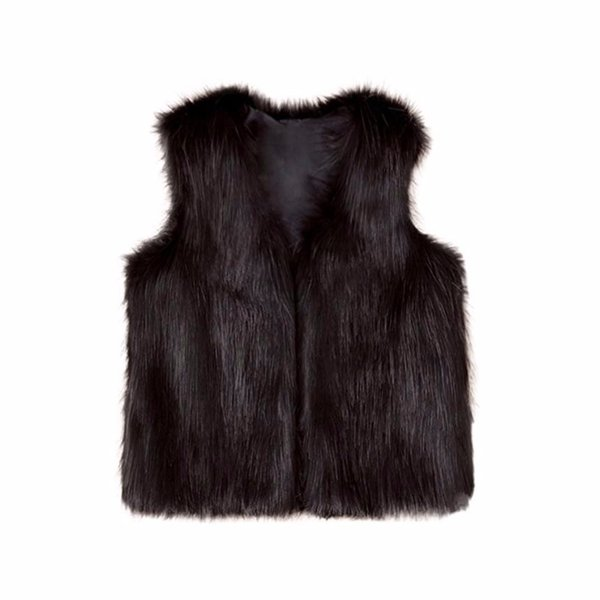 Toddler Kids Baby Girl Winter Warm Clothes Faux Fur Waistcoat Thick Coat Outwear