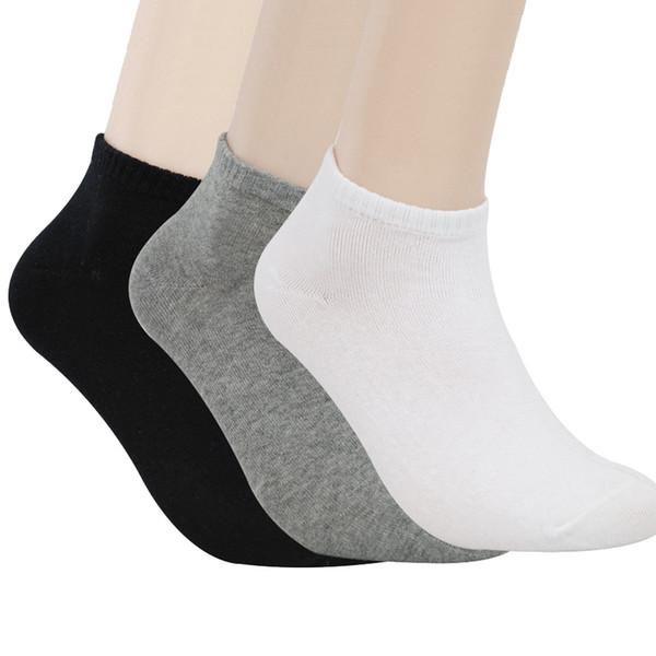 Calzini corti da uomo in cotone di alta qualità, calzini neri / bianchi / grigi