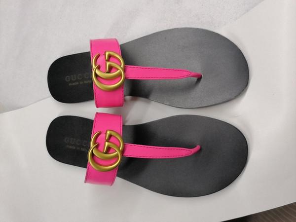 Deri Tanga Sandalet Kadınlar Lüks Desinger Terlik Moda Ince Siyah Çevirme KUTUSU ILE Marka Ayakkabı Ladie Bej Ayakkabı Sandalet Fli ...