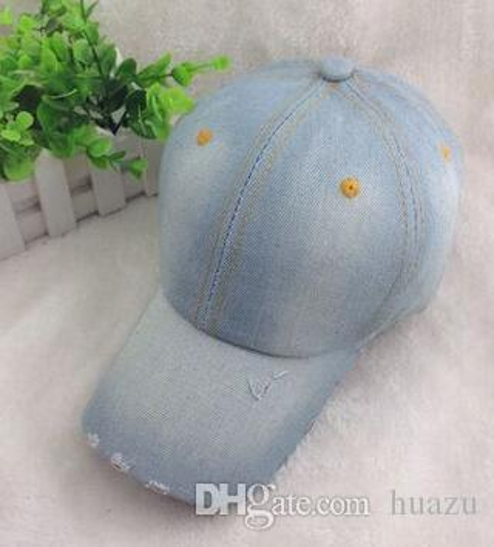 Großhandels-SPLENDID 2015 Mode für Männer Frauen Jean Sport Hut Lässige Denim-Baseballmütze Sonnenhut