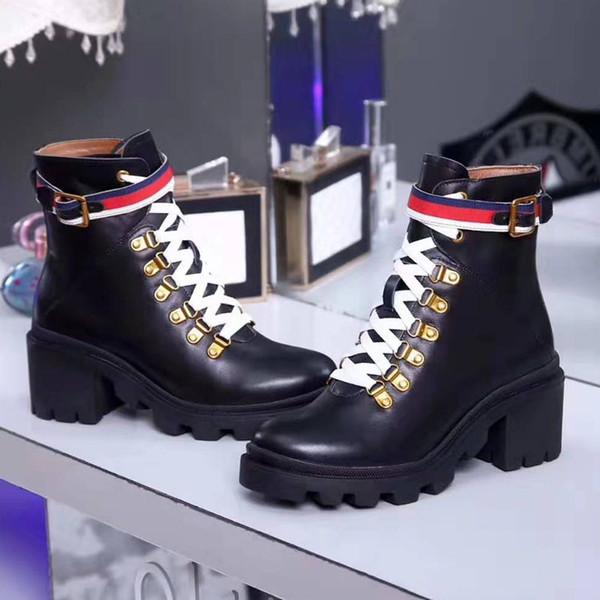 Fabrik Direktvertrieb hochwertiger Damen Winter Leder nackt Stiefel 6 cm Freizeitschuhe Retro-Mode-Motorradstiefel 35-39