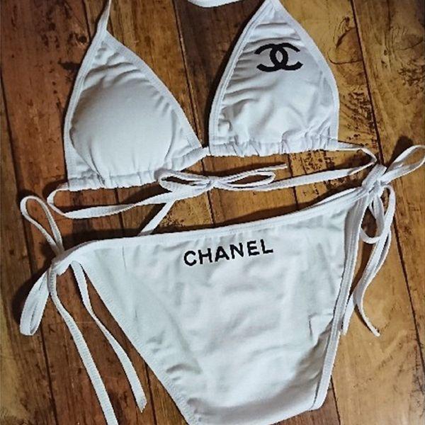 Women's Sexy Beach Bikibi Set Fashion Print Sling Swimsuit Lady Low Waist Bandage Swimwear Split Type Bathing Suit