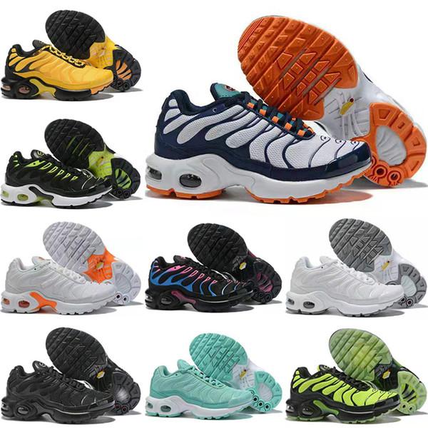 Nike Air Max TN Plus enfant Nefes Yumuşak Spor Chaussures Erkekler Kızlar TNS Artı Sneakers Gençlik requin Eğiticilerin tn Ayakkabı Koşu TN 2019 Çocuk